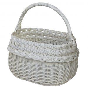 biały koszyk zakupowy